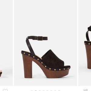 Size 5.5 never worn heeled sandal